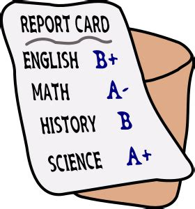 The report card book level 8